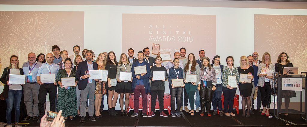 ALL DIGITAL AWARDS 2018 WINNERS
