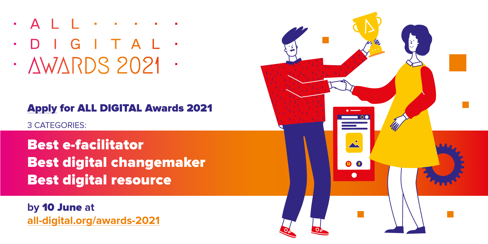 Apply for ALL DIGITAL Awards 2021